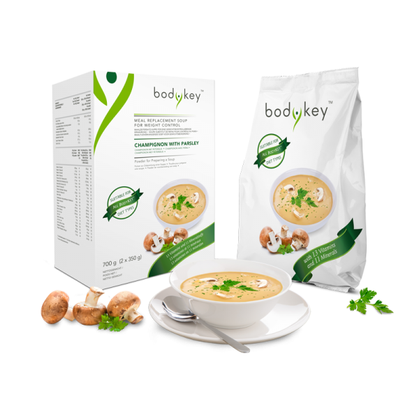 Mahlzeitersatz-Suppe Champignon mit Petersilie bodykey by NUTRILITE™ - 700 g (2 x 350 g) 14 Portione