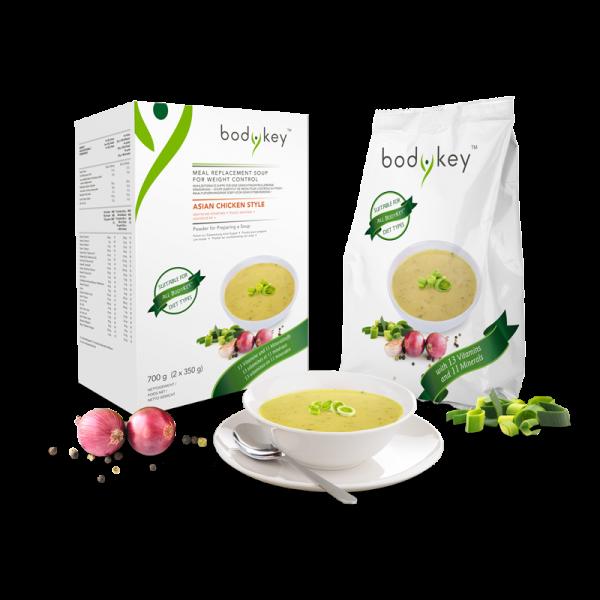 Mahlzeitersatz-Suppe Asiatisches Hühnchen bodykey by NUTRILITE™ - 700 g (2 x 350 g) 14 Portionen