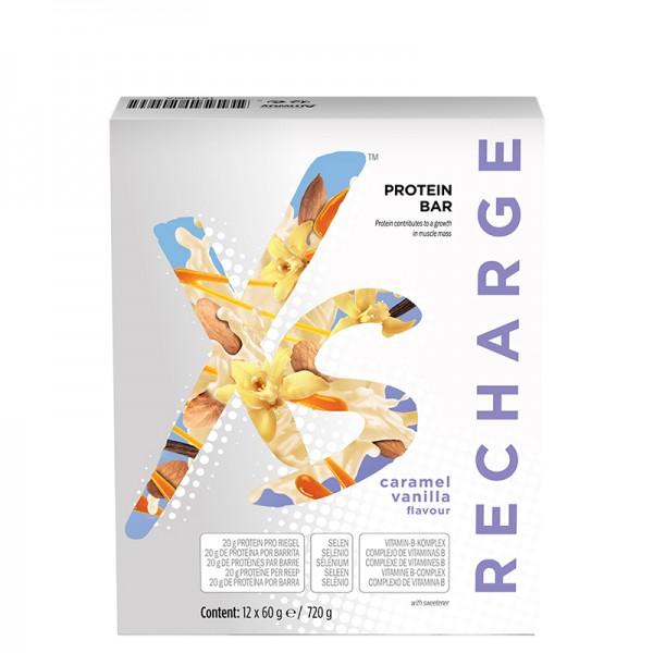 Protein Riegel mit Karamell-Vanillegeschmack XS™ - 12 Riegel x 60 g / 720 g - Amway