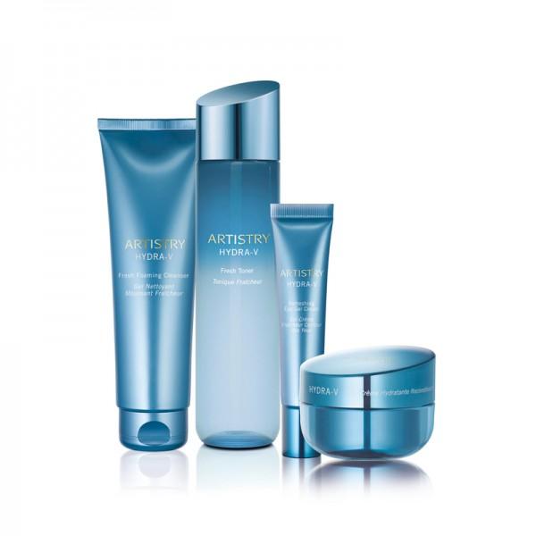 Hautpflegelösung für normale bis trockene Haut ARTISTRY HYDRA-V™ - Set mit 4 Produkten - Amway