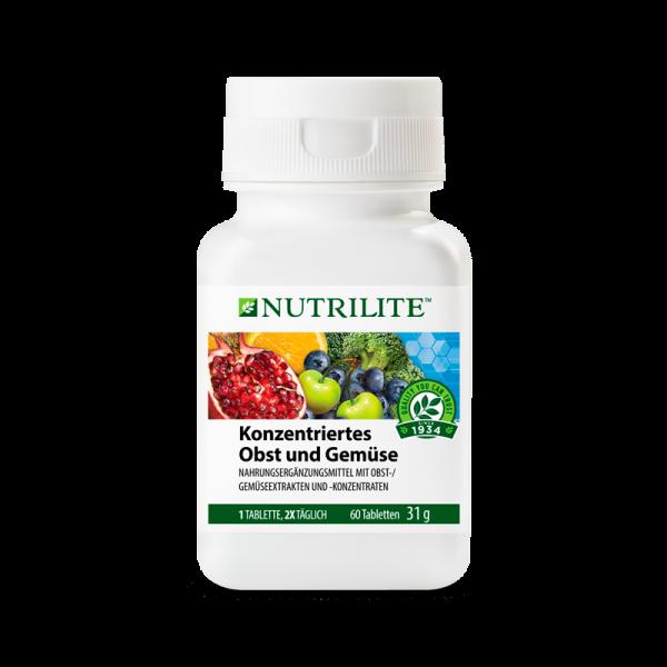 Konzentriertes Obst und Gemüse NUTRILITE™ - 60 Tabletten / 31 g - Amway