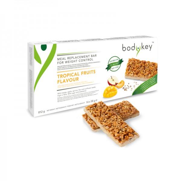 bodykey by NUTRILITE™ Mahlzeitersatz-Riegel – Tropische Früchte - 14 Riegel, je 58g (812g) - Amway