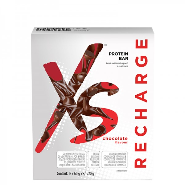 Protein Riegel mit Schokoladengeschmack XS™ - 12 Riegel x 60 g / 720 g - Amway